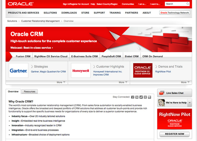 oracle-landing-page